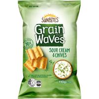 Sunbites Sour Cream & Chives Grain Waves 110g
