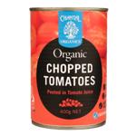 Chantal Organics Organic Chopped Tomatoes Peeled In Tomato Juice 400g