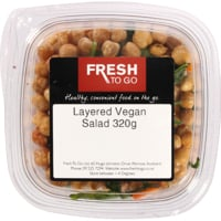 Fresh To Go Layered Vegan Salad 320g