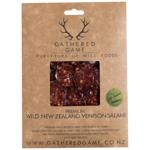 Gathered Game Wild Venison Garlic Pepper Sliced Salami 100g