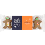 Molly Woppy Mini Gingermen Gingerbread Biscuits 8 Pack 8pk