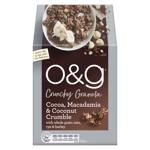 O&G Cocoa Macadamia & Coconut Crumble Crunchy Granola 450g