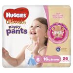 Huggies Ultimate Nappy Pants Girls 16kg+ Junior 26ea