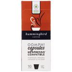 Hummingbird Oomph! Fair Trade Organic Coffee Capsules 10pk