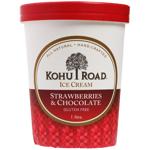 Kohu Road Strawberries & Chocolate Ice Cream 1l