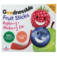 Goodness Me Raspberry & Blueberry Duo Fruit Sticks 8pk