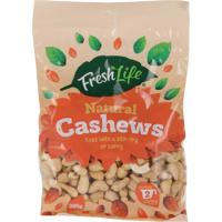Fresh Life Natural Cashews 300g