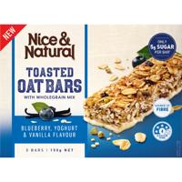 Nice & Natural Blueberry Yoghurt & Vanilla Toasted Oat Bars 150g (30g x 5pk)