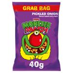 Walker's Pickled Onion Mega Monster Munch Corn Snacks 40g