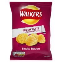 Walker's Smokey Bacon Potato Chips 33g