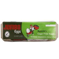 Bennik's Cage Free Size Jumbo Eggs 12ea