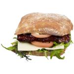 Service Deli BBQ Pork Riblet Burger 1ea