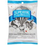 Superior White Chocolate Raspberry Licorice Bullets 200g