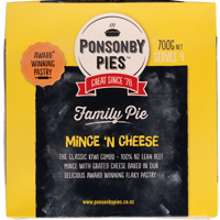 Ponsonby Pies Mince 'N Cheese Family Pie 700g