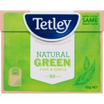Tetley Pure & Simple Natural Green Tea Bags 50ea
