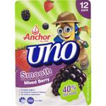 Anchor Uno Smooth Mixed Berry Yoghurt 12pk