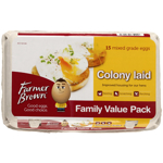 Farmer Brown Farmer Brown Colony Eggs Mixed Grade 15ea