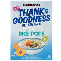 Hubbards Thank Goodness Gluten Free Rice Pops 360g