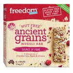 Freedom Foods Nut Free Cranberry Apple & Grains Muesli Bars 6pk