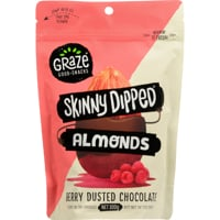 Graze Skinny Dipped Berry Dusted Chocolate Almonds 300g