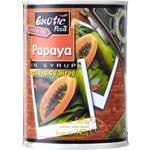 Exotic Food Papaya In Syrup 565g