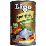 Ligo Spanish Style Sardines 155g