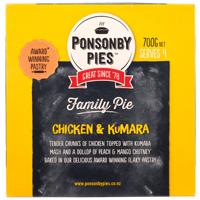 Ponsonby Pies Chicken Kumara Family Pie 700g