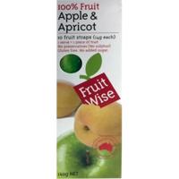 Fruit Wise Apple & Apricot Fruit Straps 10ea