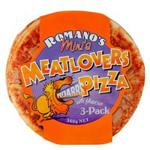 Romanos Meat Lovers Pizza Minis 450g (150g x 3pk)