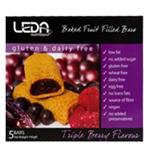 Leda Gluten Free Snack Bar Triple Berry 190g (38g x 5pk)