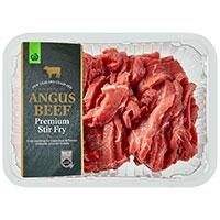 Countdown Angus Beef Stir Fry Finest Nz Med Tray min order 500g per 1kg
