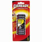 Eveready Super Heavy Duty Battery AA 8 Pack