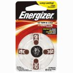 Energizer Hearing Aid Battery AZ312 4 Pack