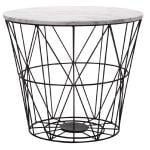 Living & Co Wire Side Table Black