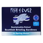 Fish 4 Ever Scottish Brisling Sardines in Spring Water 125g