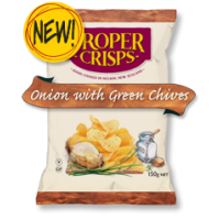 Proper Crisps Onion & Green Chives 40g