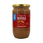 Chantal Organics Whole Peanut Butter Crunchy 700g