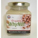 Whynut Organic Macadamia Nut Spread Natural 160g