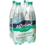 NZ Natural Water Sparkling 1L 4 Pack
