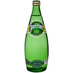 Perrier Mineral Water Glass Bottle 750ml