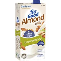 Sanitarium So Good UHT Almond Milk Unsweetened 1L