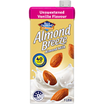 Blue Diamond Almond Breeze Almond Milk Unsweetened Vanilla 1L
