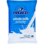 Alpine Instant Milk Powder Whole 400g