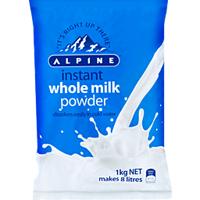Alpine Instant Whole Milk Powder 1kg