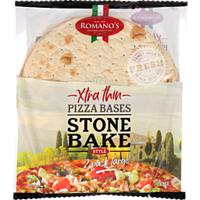 Romano's Pizza Bases Extra Thin Stone Bake 300g (150g x 2pk)