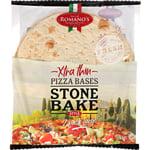 Romano's Pizza Bases Extra Thin Stone Bake 300g 2pk