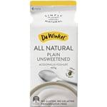 Dewinkel Yoghurt Plain Unsweetened 600g