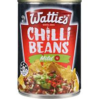 Watties Baked Beans In Mild Chilli Sauce 420g