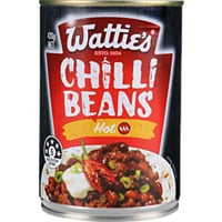 Watties Quick Serve Meal Chilli Beans Hot 420g