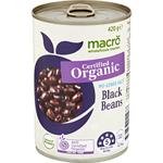 Macro Org Black Bean Nas 420g
